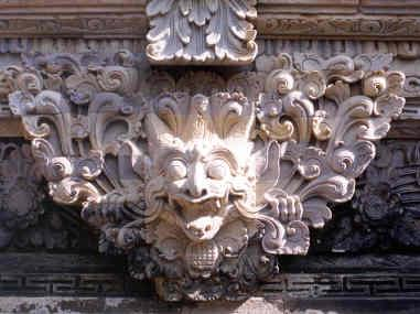 Fantastic images adorn many Balinese temples