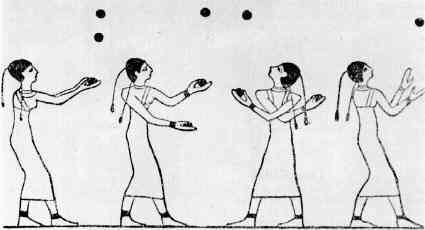A wall painting of jugglers in Egypt indicates how ancient this art may be